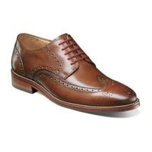 Florsheim Shoes Salerno Wingtip Oxford Cognac Smooth leather Dressy 12161-221 - $115.00