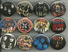 Kiss Album Cover Collection 1.5 Inch Pins Butto... - $16.00