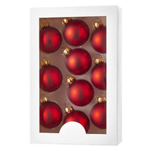 Darice Christmas Boxed Ornaments: Matte Red, 1.77 inches, 10 pieces w - $11.99