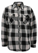 Men's Premium Cotton Button Up Long Sleeve Plaid Comfortable Flannel Shirt image 11
