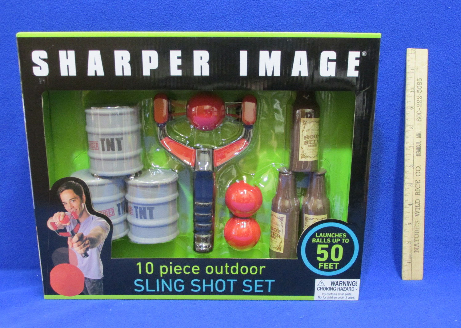 Sling Shot Set Sharper Image 10 Piece & Ring Toss Set Outdoor Games Lot of 2