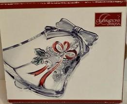 Celebrations By Mikasa Crystal Christmas Bell Dish NIB Holiday Collection - $15.99