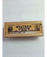 Hampton Art Diffusion Wood Stamps: Telegram #4575 - $0.99