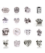 Charms European Silver Plated Delicate Angel Wings Heart Fits Pandora Br... - $5.99+