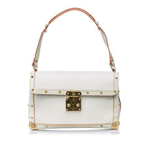Pre-Loved Louis Vuitton White Suhali Leather LAimable Bag France - $795.99