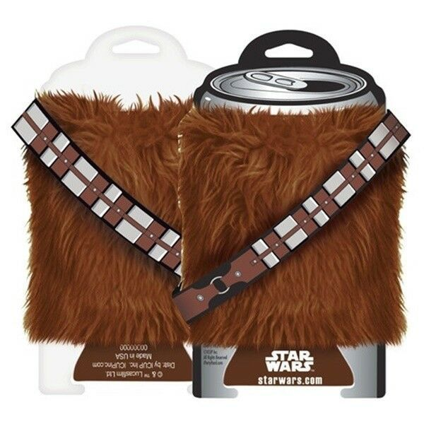 Primary image for Star Wars Chewbacca Fur Drink Can Cooler Huggie Koozie with Bandoleer NEW UNUSED
