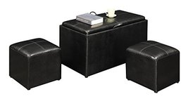 Convenience Concepts Designs4Comfort Sheridan Storage Bench with 2 Side - £96.28 GBP