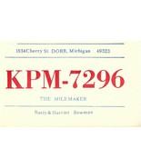 Vintage QSL Postcard  KPM 7296   Dorr, Michigan   Rusty & Harriet Bowman... - $22.05