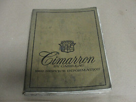 CIMARRON BY CADILLAC 1982 SERVICE INFORMATION MANUAL GM - $13.99