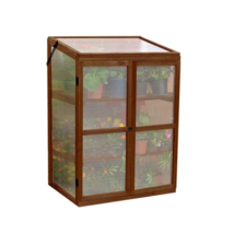 Portable Outdoor Greenhouse Wooden Grow House Small Wood Garden Flowers ... - $186.00