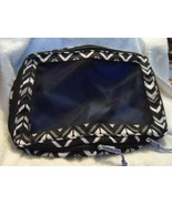 Vera Bradley large expandable packing cube in blue and black pattern - $37.00