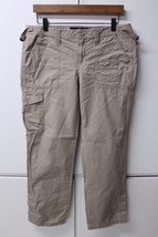 W11615 Womens Calvin Klein J EAN S 100% Cotton Cargo Khaki Pants, Button Ankle, 10 - $28.93