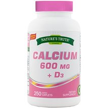 Nature's Truth Calcium 600 mg Plus Vitamin D3 Tablets, 250 Count - $19.79