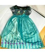 Anna Frozen II Princess Disney Black Green Tulle Costume Dress Size 4T GUC - $23.71