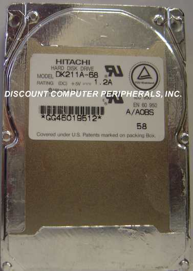 "680MB 2.5"" 19MM IDE 44pin Hard Drive Hitachi DK211A-68 Tested Our Drives Work"