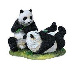 "7"" Pandas Playing Nature Wildlife Animal Statue Wild Sculpture Baby Bear - $44.55"