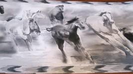 Wallpaper Border Painted Pony Wild Horses Horse Black White Border NEW EH998827 - $14.84