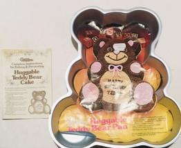 Vintage 1982 Wilton Huggable Teddy Bear Cale Pan w/ Instructions; 2105-4943 - $25.74