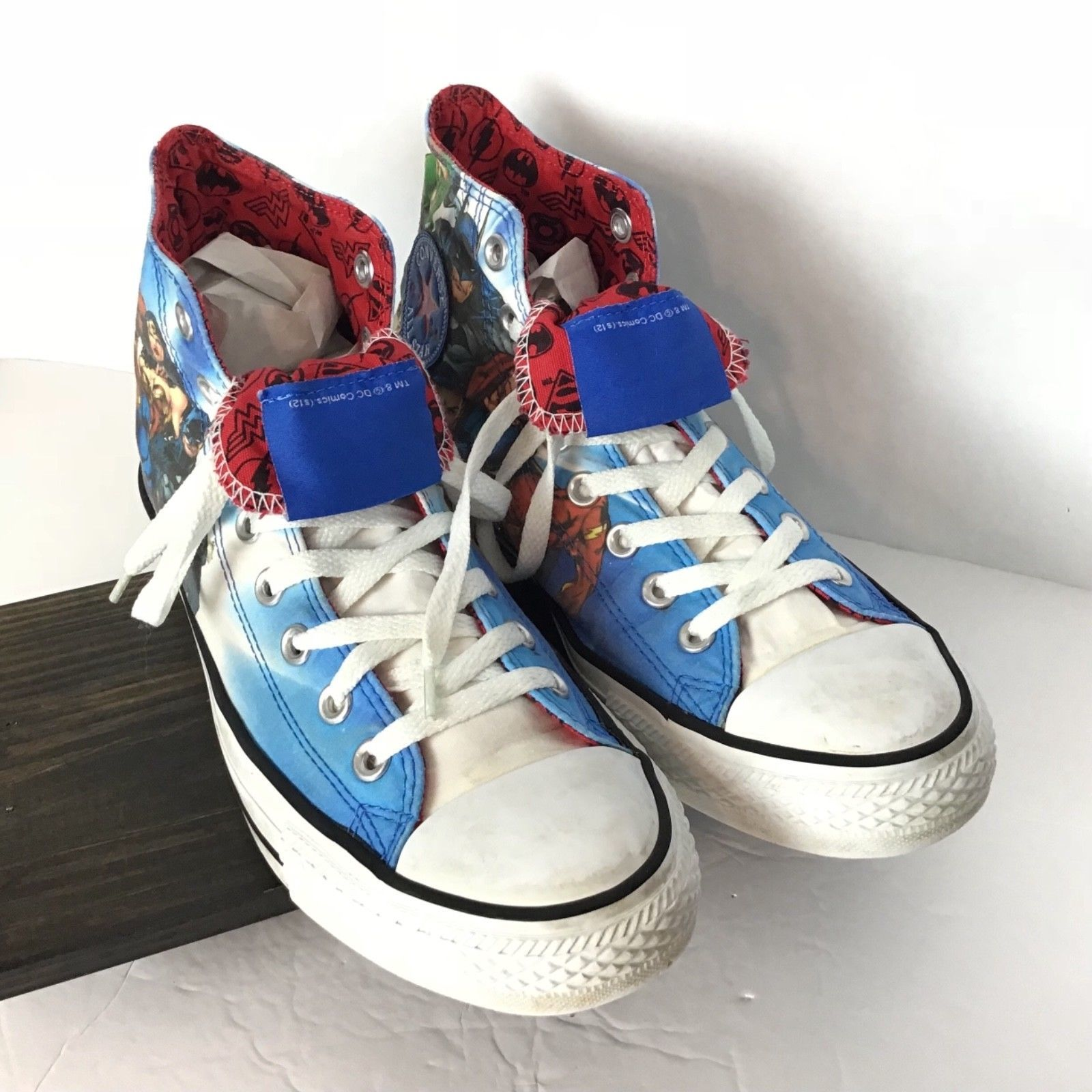 Justice League Converse Mens 8 Womens 10 Chuck Taylor Superman Batman Flash  image 8