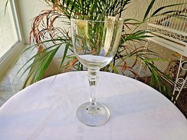 "Colony Crystal Bern Pattern Clear 7 1/2"" Tall Wine Glass - $9.90"