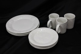 Gibson Flourish Dinner and Salad Plates Mugs Lot of 10 - $51.93