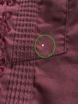 Men's Beach Guayabera Cuban Wedding Button-Up Long Sleeve Burgundy Dress Shirt image 2