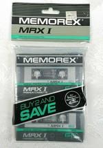 Vintage Memorex MRX I 60 New Cassette Tapes 2 Pack 90 Min       - $19.79