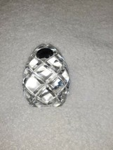 Gorham Full Lead Crystal Egg Paperweight Vintage Limited Edition Decor Poland  - $18.80