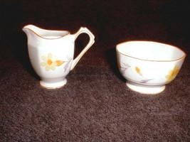 sugar creamer set  fine bone china England  tuscan yellow flowers  - $30.00
