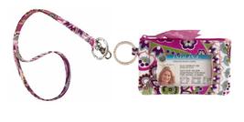 NWT Vera Bradley Zip ID Case Bag in Very Berry Paisley - $23.99