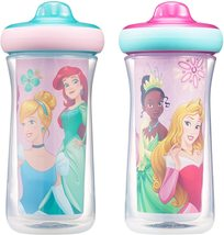 The First Years Disney Princess Insulated Hard Spout Sippy Cups, 9 Ounce... - $17.00