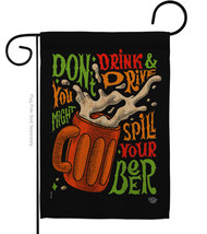 Don't Drink Beer - Impressions Decorative Garden Flag G192300-BO - $19.97