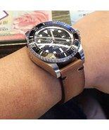 Custom 21mm Handmade Premium Calf Leather Watch Band Gunny Straps - Minimalist 2 - $99.99