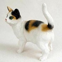 SHORTHAIRED CALICO CAT Figurine Statue Hand Painted Resin Standing - $19.99