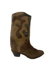 ZODIAC USA Tan Genuine Leather Pull On Western Cowboy Women's Boots Size 10 - $29.91