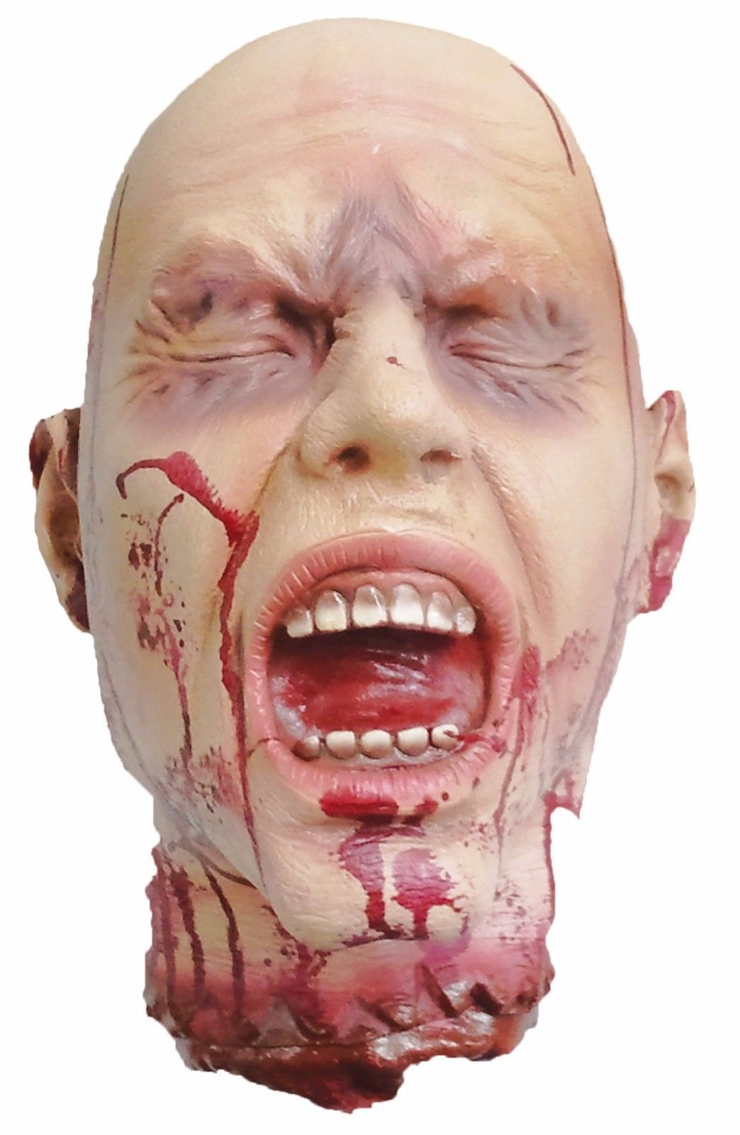 Ripped Off Head Halloween Prop Scary Creepy Haunted House And Yard Decoration