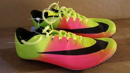 NEW Nike Zoom JA Fly Rio Track Racing Spikes Shoes Volt 882032-99 Mens S... - $23.93
