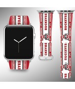 Ohio State Buckeyes Apple Watch Band 38 40 42 44 mm Fabric Leather Strap 3 - $29.97