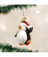 OLD WORLD CHRISTMAS DANCING PENGUIN GLASS NAUTICAL CHRISTMAS ORNAMENT 16095 - $11.88