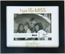 Bachelorette Gift for The Bride Picture Frame Kiss The Miss Goodbye 5x7 ... - $16.82