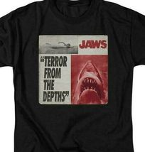 Jaws Terror from the depths retro 70's shark thriller graphic t-shirt UNI903 image 3