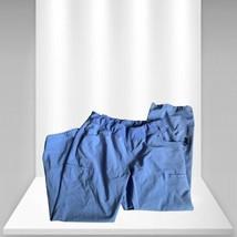 Petite Classic Scrubs Cargo Pants Blue - $20.29