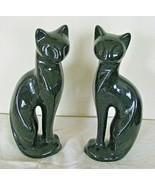 "Set of 2 Black Cats Figurines 7"" Bone China BY:Cottage Rose Saywell Impo... - $38.60"