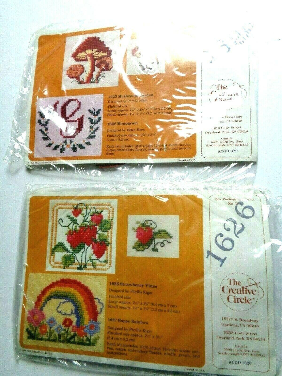 2 New Vintage Creative Circle # 1626 Strawberry Vines &  # 1628 Monogram Kit - $9.89