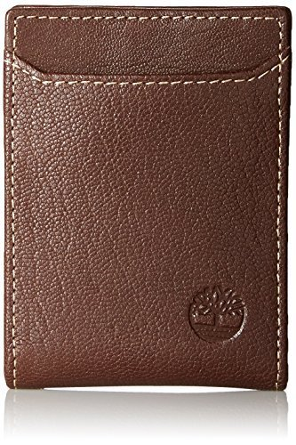 Timberland Men's Blix Minimalist Slim Money Clip Wallet, Brown, One Size