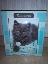 "Rachael Hale 550 Piece Puzzle Called Toby 18"" X 24"" Gray Cat #H - $9.49"
