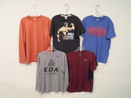 Lot of 5 Nike & Columbia Mens Shirts Sz Medium T-Shirt Arnold Schwarzenegger - $15.83