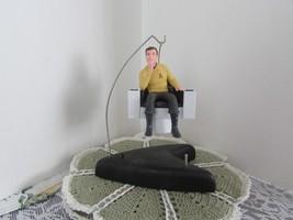 Captain Kirk 1995 Hallmark ornament w/Star Trek 30 Years base w/recordin... - $18.70