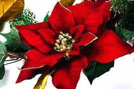 CraftMore Poinsettia Pine Garland 6' image 2