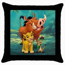 Throw pillow case cover lion king pumbaa timon  - $19.50